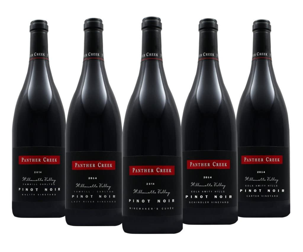 2014 Panther Creek Cellars bottlelineup